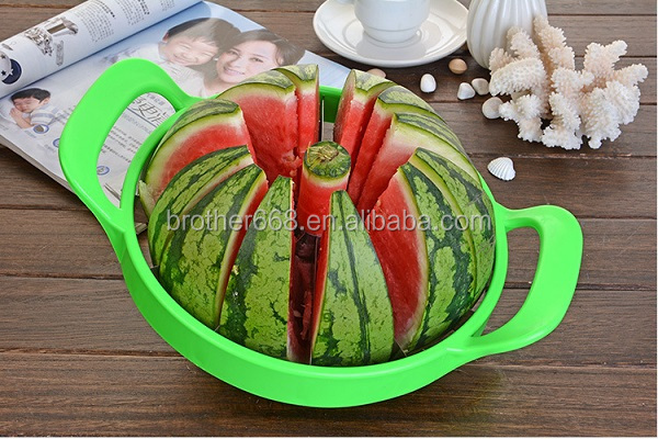 Cutting Large Fruit Vegetables Stainless Steel Watermelon Cutter Melon Slicer