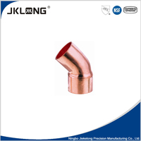 J9008 Copper fitting 45 degree elbow for plumbing