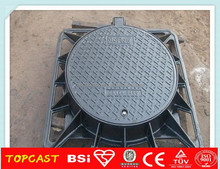 round cast iron circular manhole cover EN124 D400 c250, manhole cover to UK
