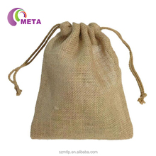 Wholesale Cheap Small Natural Burlap Hessian Gift Sack Bags Jute Drawstring Pouch