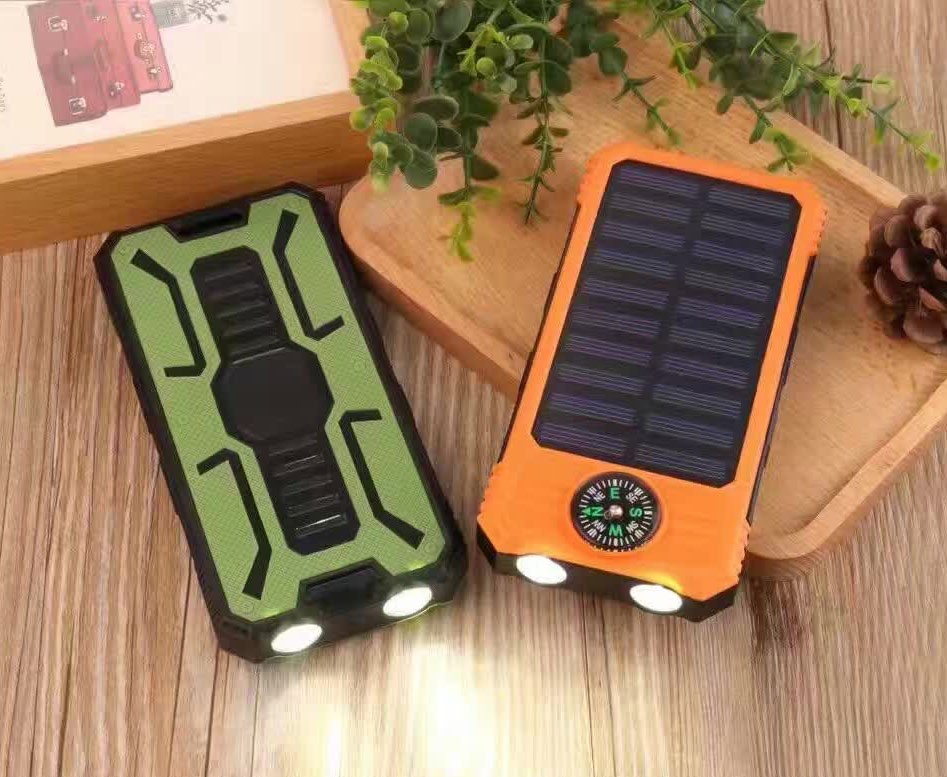 2017 New Arrival Compass Led Flashlight Solar Power Bank 10000mah