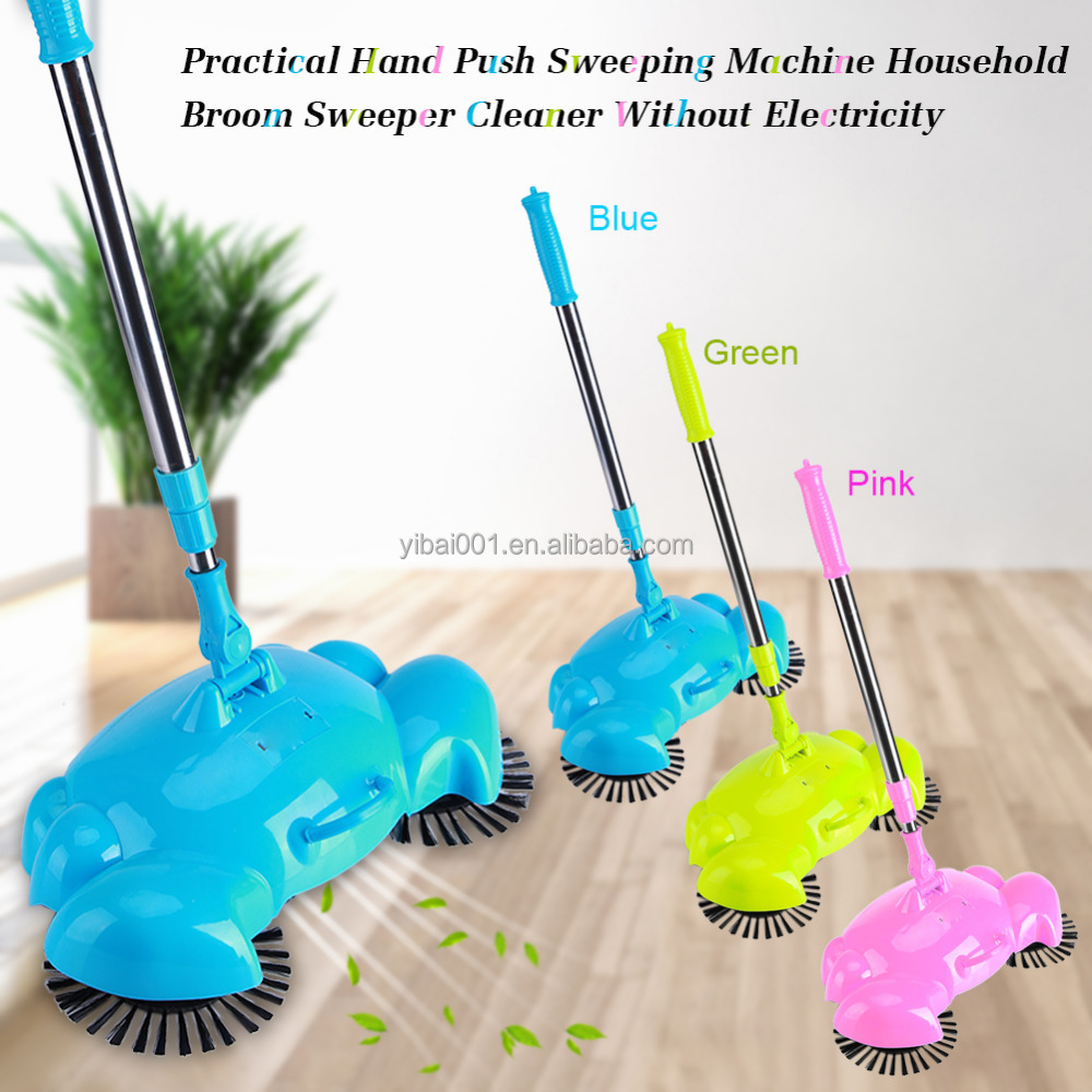 Practical Hand Push Sweeping Machine Household Broom Sweeper Cleaner Without Electricityb