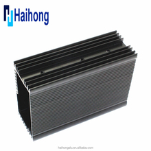 Black electronic aluminum die cast enclosure enclosure
