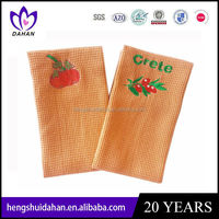 100% cotton embroidery waffle weave tea /kitchen towel promotion