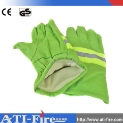 Green aramid & cotton fire resistant gloves/China wholesale