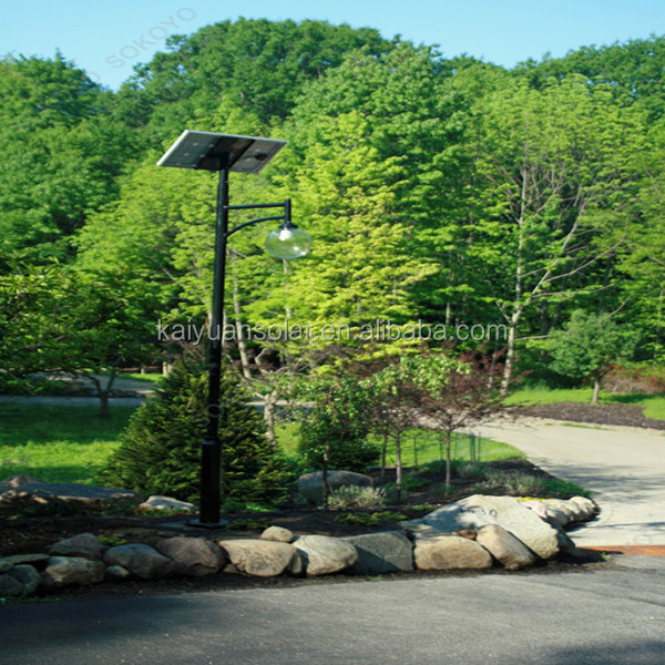 lower price galvanized pole 15w solar garden light