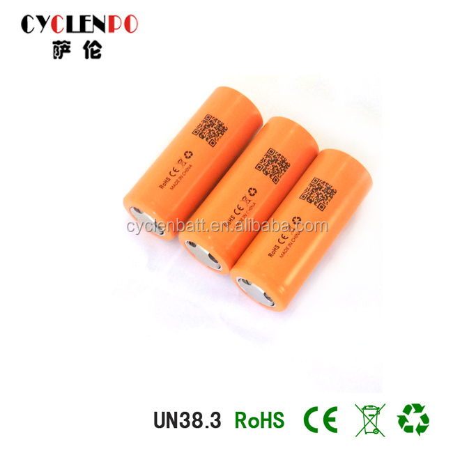 High Capacity 3.7V 2200mAh 26650 Rechargeable 18650 Li ion Battery