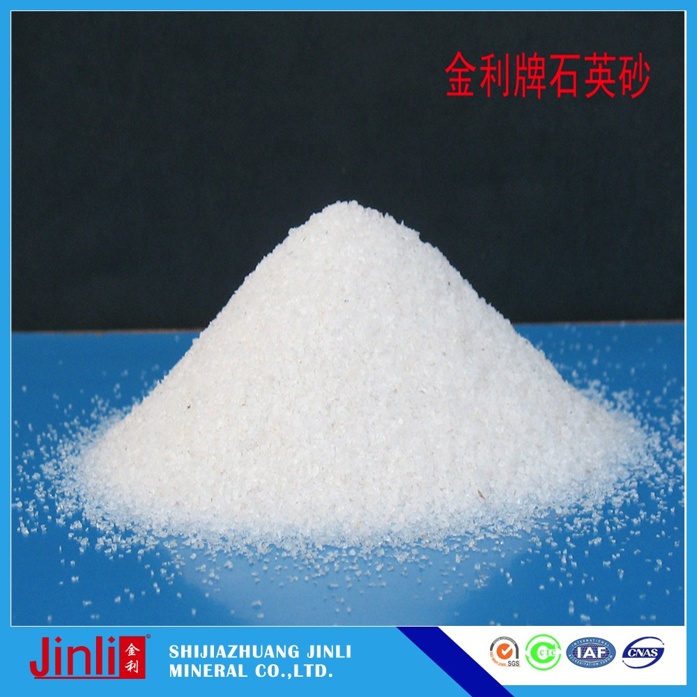 White quartz sand Fine quartz silica sand with high SiO2 and lower price from China manufacturer