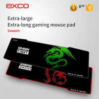 EXCO durable black cheap extra large non-slip rubber long gamer mouse pad