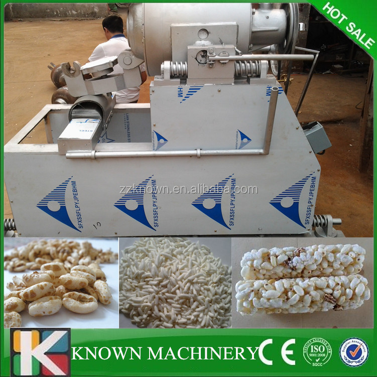 Hot sale in Africa market low price automatic rice puff machine,puffed rice machine,puffed rice making machine