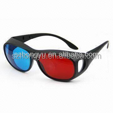 2015 latest red blue 3d glasses thick lens for 3D books, magazines