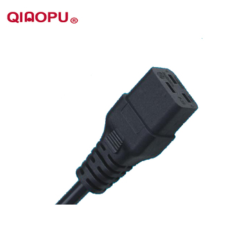 QIAOPU C13 C14 VDE SAA computer connector extension cord lead with QT4