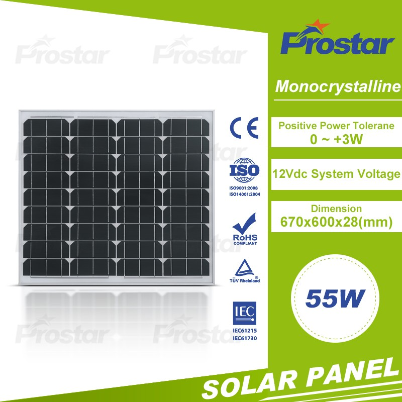Cold Zone popular 55W mono solar pv panels toronto