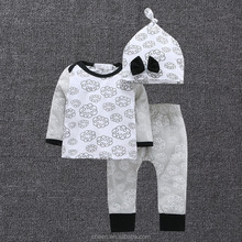 2017 high quality nice long sleeve autumn hot sale 2 pcs kids clothes clothing set Elephant children baby clothing newborn set