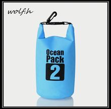 Customized design pvc waterproof dry bag for camping 2L in stock