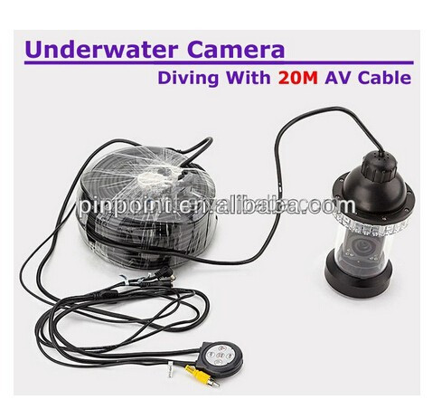 7'' TFT LCD underwater fishing camera 50m cable 1/4 SONY CCD 24 pcs LED lights remote control night vision