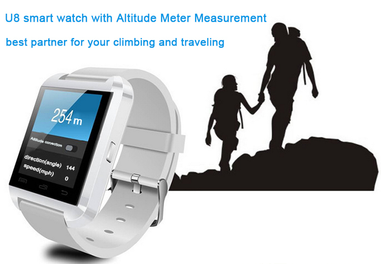 Free Sample Pedometer Android Wrist U8 Bluetooth Smart Watch Phone For Android & IOS Wrist Sport Watch