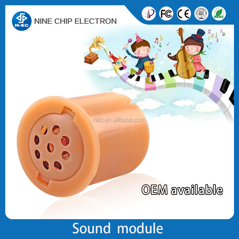 Mini voice recordable sound module for toys,hand press cylinder sound module