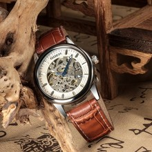 2015 new fashion leather watch, high quality casual mechanical wrist watch