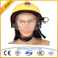 Hot Sale CE Standard With Full-Size Goggles Fire Safety Helmet