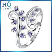 Bottom price most popular cu set silver latest design diamond ring
