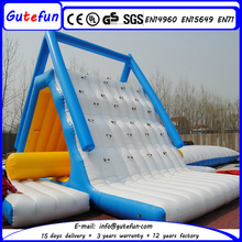 Giant water park used inflatable floating slide, inflatable climbing water slide for sale