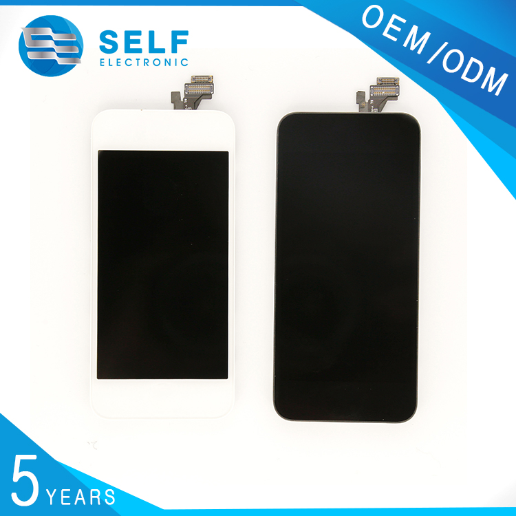 "cell phone replacement parts 4"" digitizer lcd touch screen for iphone 5 black and white"