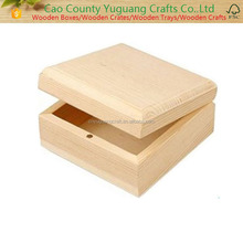 Small wooden jewellery box with magnetic clasp closure