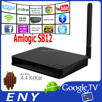 Amlogic S812 Quad Core 1000M Ethernet Strong Wifi Signal Android TV Box XBMC Preinstalled Watching Tube Free Available