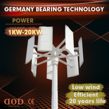 China made 2000w 5-blade Vertical axis wind turbine 1KW 48v residential small fan