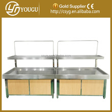China customized display table/vegetable and fruit table