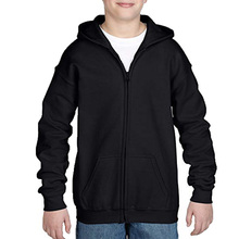 Sport team dikke fleece zip up unisex kinderen hoodies