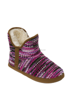 Chunky Fun Knit women' Bootie Slippers