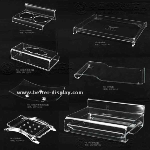 custom clear acrylic serving tray tray desk organizer with logo printing