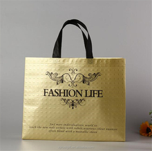 110gsm emboss laser printing laminated nonwoven shopping tote bag , shoes bag , cloth bag .