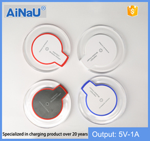 Universal qi wireless charging pad for mobile phone wireless charger , AiNaU factory wholesale.