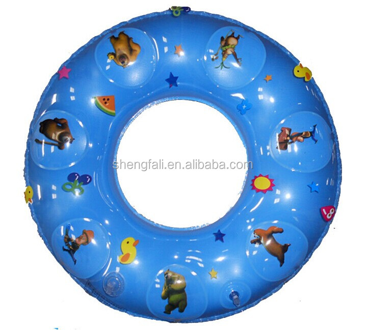 High quality inflatable donut pool float swimming ring yellow