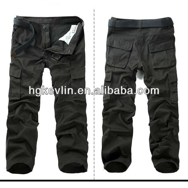 2014 factory wholesale 100% cotton new style mens capri cargo pants