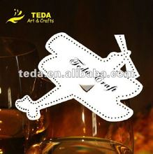 PD-101 airplane Glass place cards