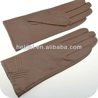 LC050 nude fashion patten leather gloves for women