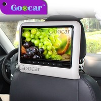 Goocar 107 Hanging Headrest monitor with Suction type dvd player 10 inch 1080P HD dvd Monitor