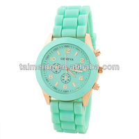 fashion gift & seagull movement silicone watch