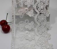 Canton Fair Supplier Wedding Dress Embriodery White Lace Trim