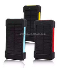 Best Selling Promotion gift Mobile Charger Solar Power Bank Handy Waterproof 2600mah
