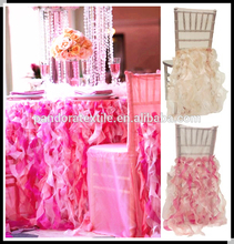 China manufacturer organza ruffled chair sashes for sales banquet