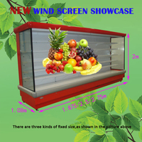 Supermarket Fruit and Vegetable Display Cooler / Air Curtain Cabinet