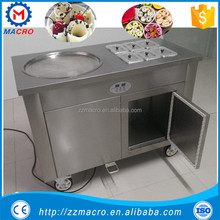 best price thailand style roll fry ice cream machine with flat table for fried ice cream production