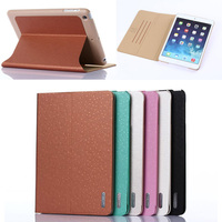 Star point grain line flip stand for ipad mini leather case cover
