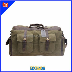 21.6 Inch Oversized Leather Canvas Carry on Duffle Bag Large Tote Luggage Handbag
