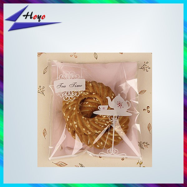 wholesale heat seal opp plastic cake bag with factory price